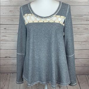 NWT Free People Lacey Love Pullover Sweatshirt Top